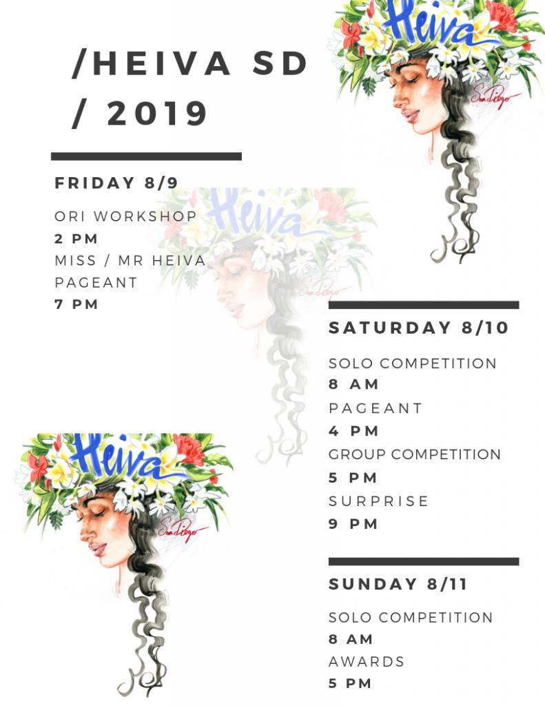 Heiva 2019 Schedule