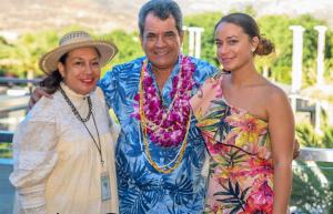 Maeva Tarahu-McNicol, President Edouard Fritsch, Lindsay McNicol
